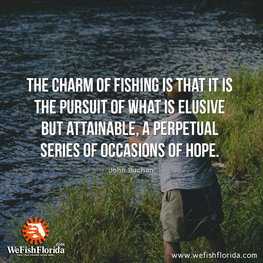 The charm of fishing is…
