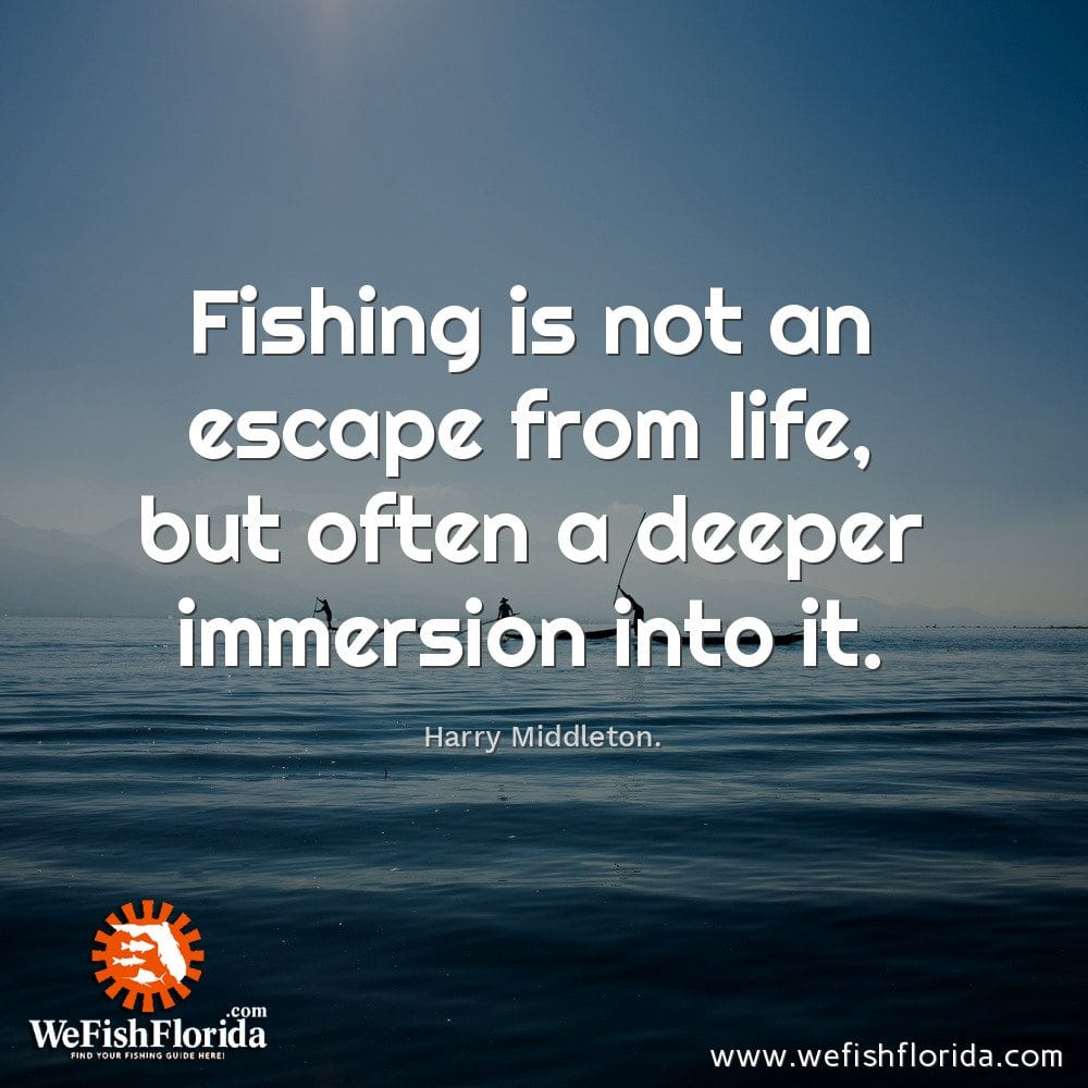 Fishing is not an escape…