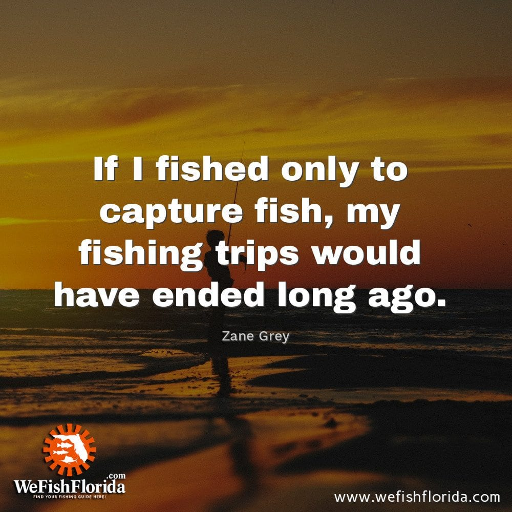 If I fished only to capture fish…